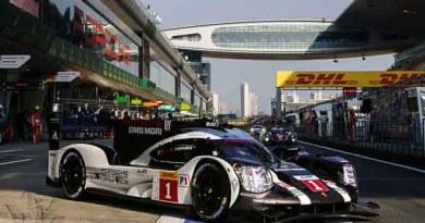 The Porsche 919 Hybrid takes pole position in Shanghai