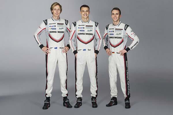 Brendon Hartley, Earl Bamber, Timo Bernhard, Porsche 919 Hybrid, number 2