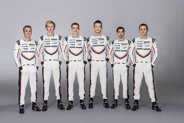Drivers Porsche LMP Team 2017