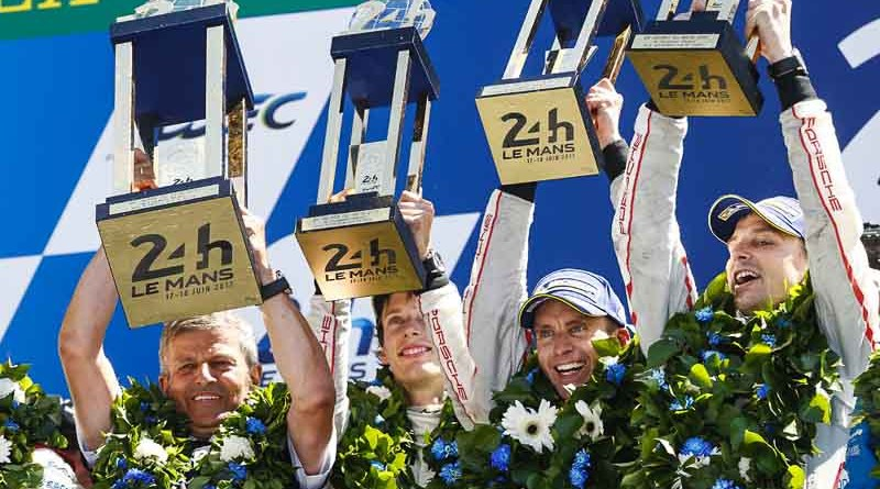 19th overall victory for Porsche at Le Mans 24H