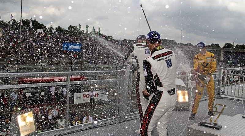 Podium: Nick Yelloly (GB), Dennis Olsen (N), Thomas Preining (A), Porsche Carrera Cup Deutschland - 04 Norisring 2017