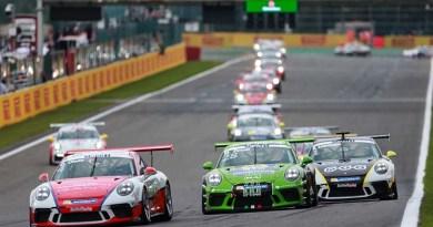 Dennis Olsen (N), Mattia Drudi (I), Michael Ammermüller (D), Porsche Mobil 1 Supercup Spa-Francorchamps 2017