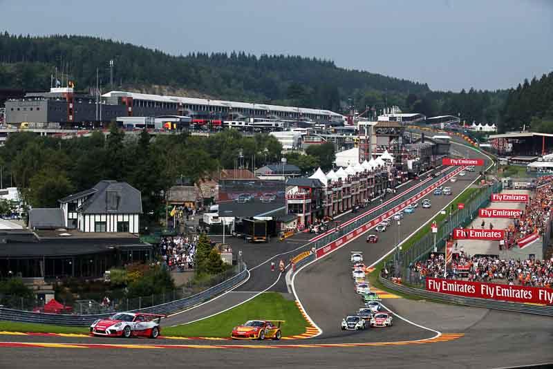 Porsche Mobil1 Supercup Spa Francorchamps Start, Dennis Olsen (N), Dylan Pereira (L), Porsche Mobil 1 Supercup Spa-Francorchamps 2017