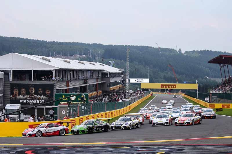 Start, Dennis Olsen (N), Mattia Drudi (I), Michael Ammermüller (D), Porsche Mobil 1 Supercup Spa-Francorchamps 2017