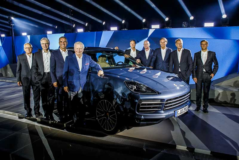 Wolrd premiere of the 3rd generation of the Porsche Cayenne, August 29 2017