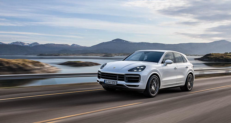 The Cayenne recorded growth of 35 percent