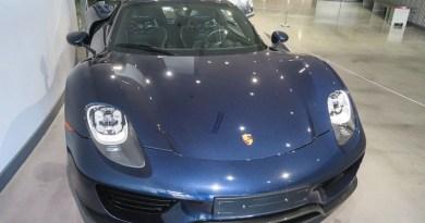 "Porsche 918 Spyder in the ""Porsche effect"" exhibition at the Petersen Automotive Museuml"