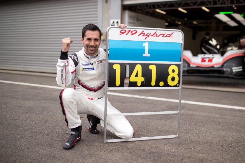 Fastest Lap Francorchamps Porsche 919 Hybrid Evo Porsche LMP Team- Neel Jani