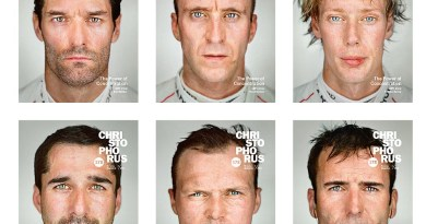 Collage of six covers from the Porsche magazine Christophorus