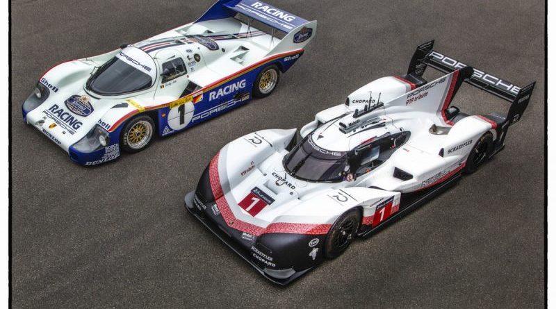 Porsche 956 C, Porsche 919 Hybrid Evo at Nürburgring 24H in demo run with Timo Bernhard & Hans-Joachim Stuck