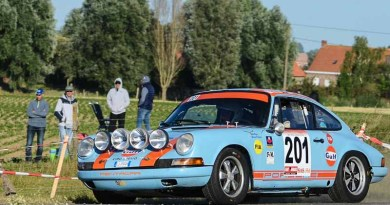 Porsches at Ypres Historic Rally 2018