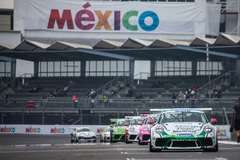 Porsche 911 GT3 Cup, Julien Andlauer (F), Porsche 911 GT3 Cup, Thomas Preining (A), Porsche Mobil 1 Supercup, Mexiko 2018