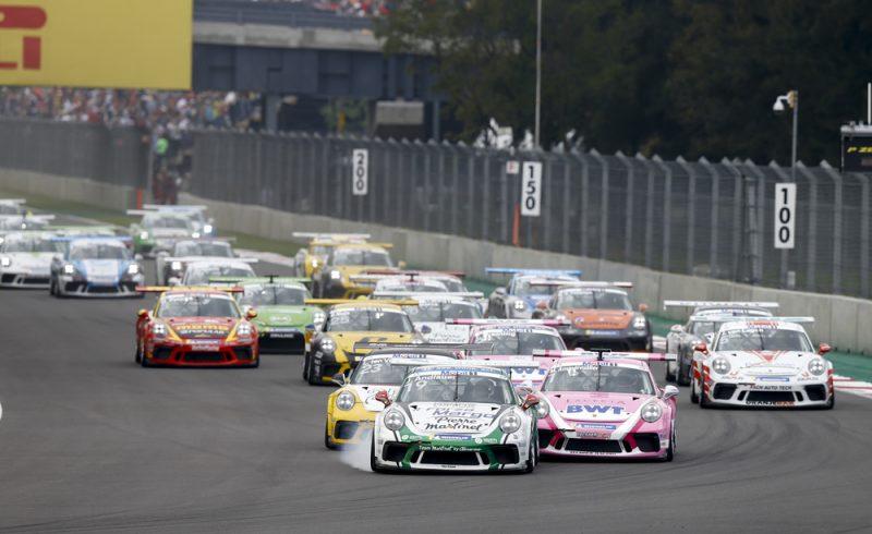 Start, Porsche 911 GT3 Cup, Julien Andlauer (F), Michael Ammermüller (D), Larry ten Voorde (NL), Porsche Mobil 1 Supercup, Mexico 2018