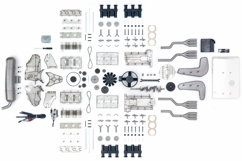 franzis porsche 911 flat 6 boxer engine model  love for porsche