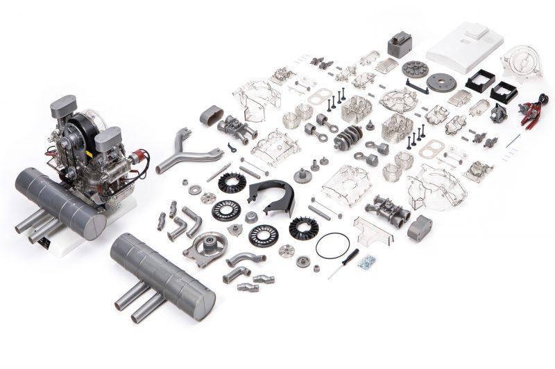 Porsche Carrera Engine Model Kit