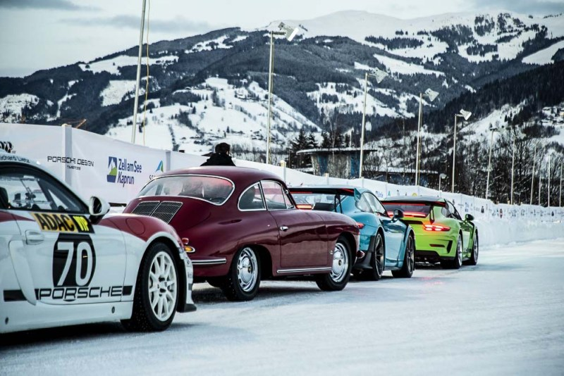 Demo-drive on ice at Zell am See