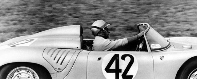Hans Herrmann at the wheel of the Porsche RS60 in the 1960 Sebring 12H