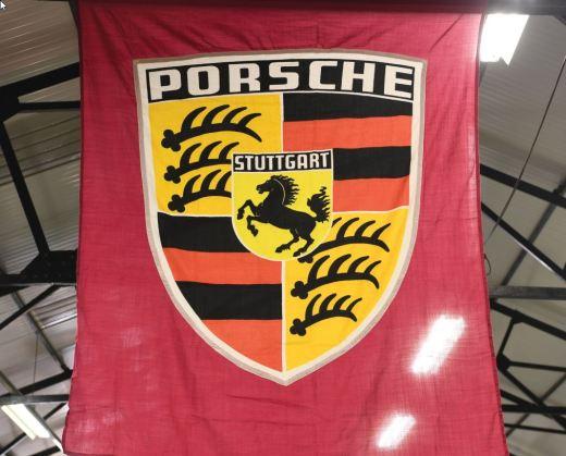 1950 Porsche Dealership banner