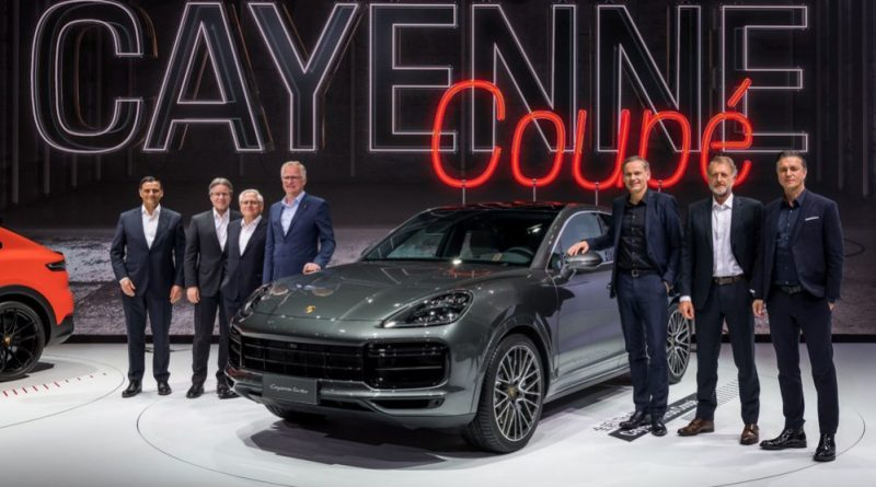 Asia premiere of the Cayenne Coupé at Auto Shanghai 2019