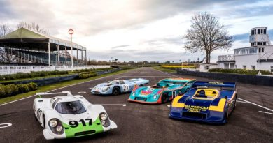 For the first time ever the Porsche museum is participating with four 917- 917-001, 917 KH, 917:30-001 and 917:30 Spyder (FLTR)