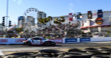 IMSA Long Beach Qualification Porsche 911 RSR (911), Porsche GT Team- Patrick Pilet, Nick Tandy