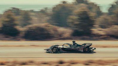 Porsche Formula E team tests in Spain