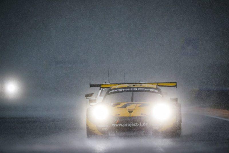 Porsche 911 RSR, Team Project 1 (56), Joerg Bergmeister (D), Patrick Lindsey (USA), Egidio Perfetti (N), Spa-Francorchamps 2019
