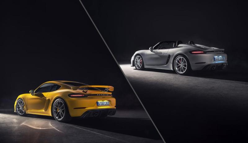 Porsche 718 Spyder and Porsche 718 Cayman GT4