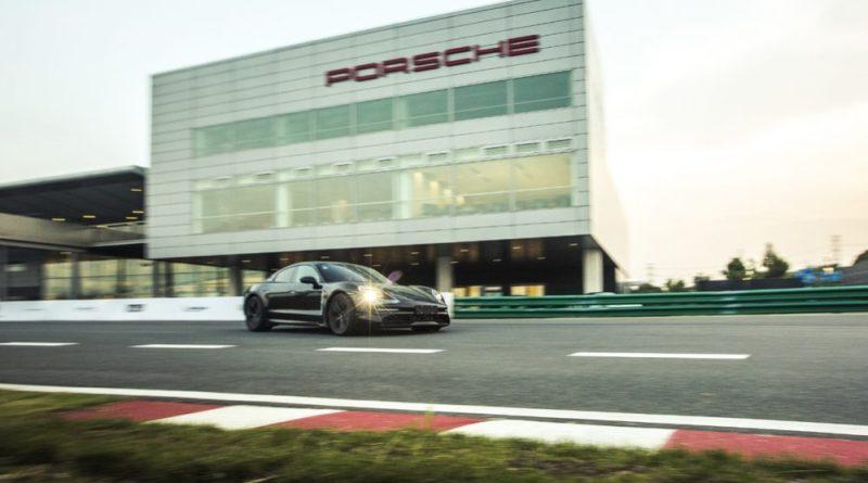 Porsche Taycan prototype at the PEC in Shanghai : Premiere