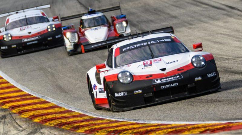 Porsche 911 RSR (912), Porsche GT Team- Earl Bamber (NZ), Laurens Vanthoor (B) IMSA Weathertech Elkhart Lake Road America