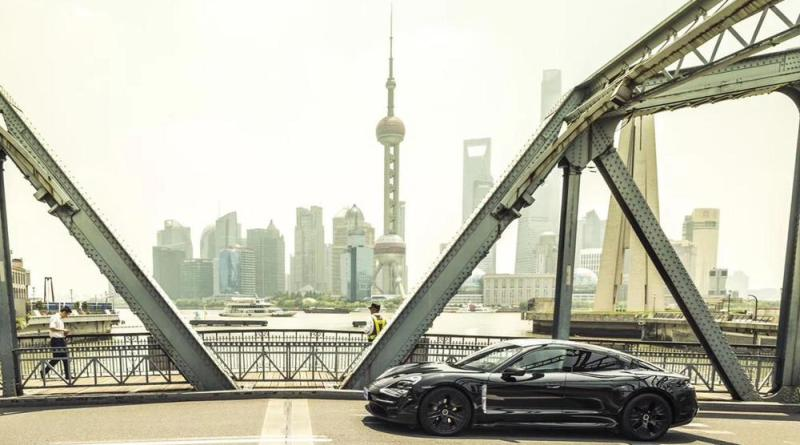 The fully electric Porsche Taycan forms the core of the green product portfolio.