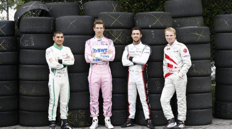 Ayhancan Güven (TR), martinet by ALMERAS, Michael Ammermüller (D), BWT Lechner Racing, Julien Andlauer (F), BWT Lechner Racing, Larry ten Voorde (NL), MRS GT-Racing (l-r), Porsche Mobil 1 Supercup 2019
