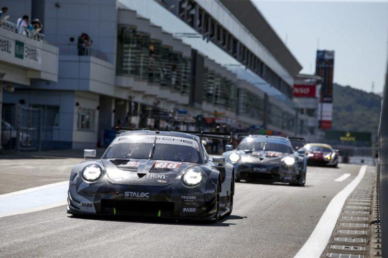 Porsche 911 RSR, Dempsey-Proton Racing (88), Thomas Preining (A), Satoshi Hoshino (J), Adrien de Leener (B)