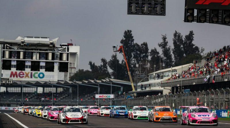 Start, Porsche 911 GT3 Cup, Michael Ammermüller (D), Ayhancan Güven (TR), Mikkel Overgaard Pedersen (DK), Porsche Mobil 1 Supercup, Mexico 2019