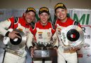 Frikadelli Racing Team (31), Nick Tandy (GB), Dennis Olsen (N), Mathieu Jaminet (F) (l-r)