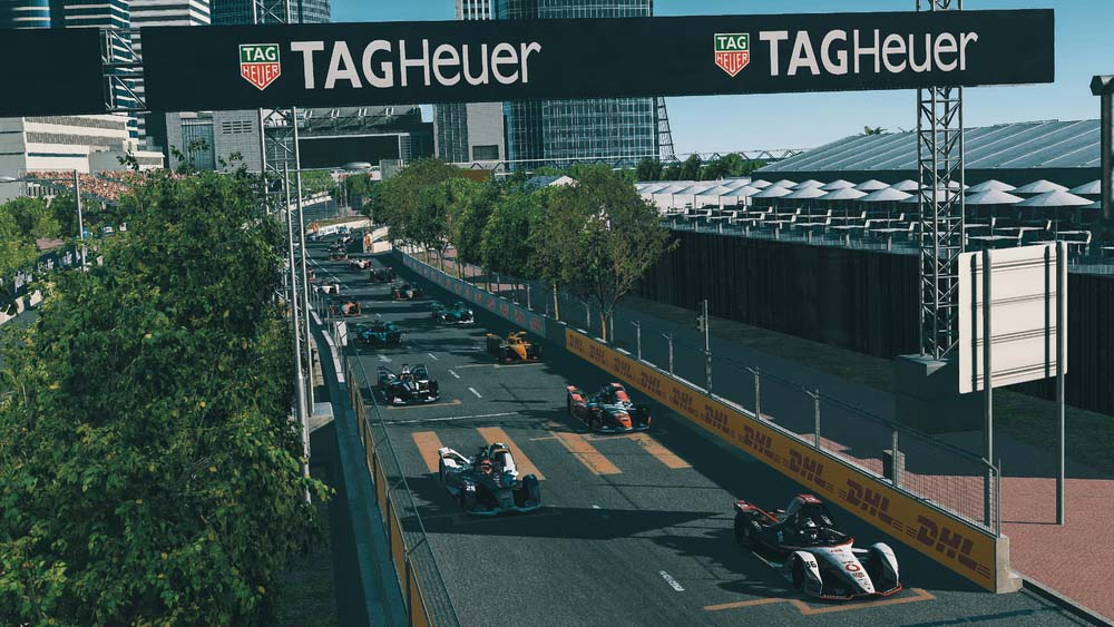 """photo of Porsche works drivers fight back after chaotic Hong Kong start in the """"Race at Home Challenge"""" image"""