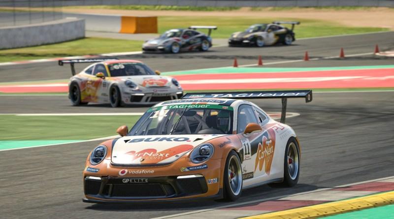 Porsche 911 GT3 Cup, Maximilian Benecke (D), number 11, Porsche TAG Heuer Esports Supercup, 2020 - Barcelona