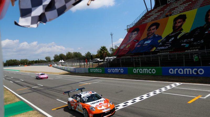 Porsche 911 GT3 Cup, Larry ten Voorde (NL), Porsche Mobil 1 Supercup, Barcelona 2020,
