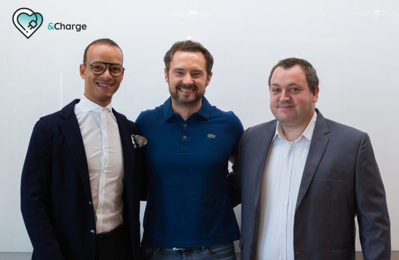 The founding team of &Charge (ltr)- Simon Vogt, Chief Sales Officer, Eugen Letkemann, Chief Executive Officer, and Matthias Drechsler, Chief Technology Officer