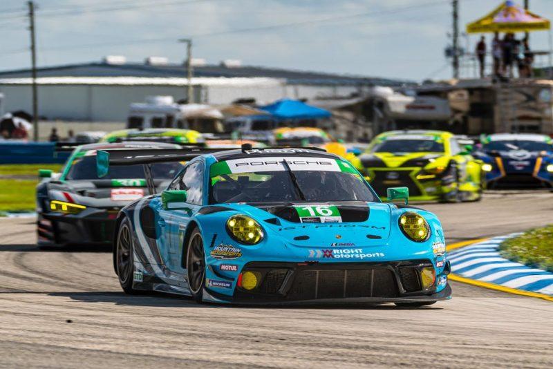 Porsche 911 GT3 R, Wright Motorsports (#16), Patrick Long (USA), Ryan Hardwick (USA), Jan Heylen (B)