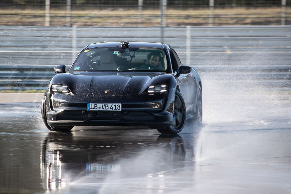 Drifting into the Guinness World Records book with a Porsche Taycan.