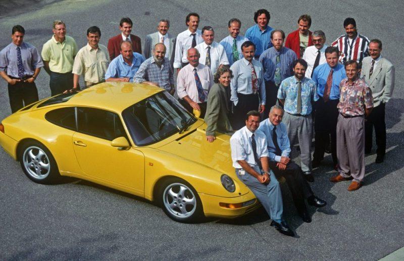 Tony Hatter - Bernd Kahnau and the Porsche 993 design team