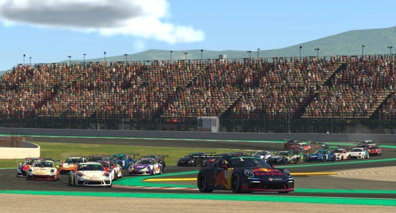 Porsche 911 GT3 Cup, Start, Sebastian Job (GB), #1, Porsche TAG Heuer Esports Supercup, 2021