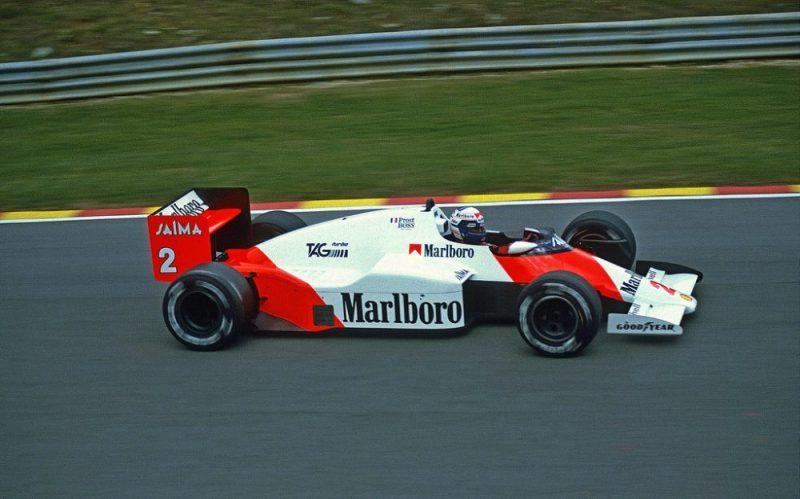 Alain Prost, McLaren-TAG MP4:2B | European Grand Prix Brands Hatch