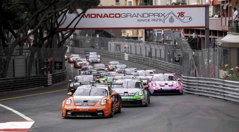 Start, Porsche 911 GT3 Cup, Larry ten Voorde (NL), Jaxon Evans (NZ), Porsche Mobil 1 Supercup, Monaco 2021