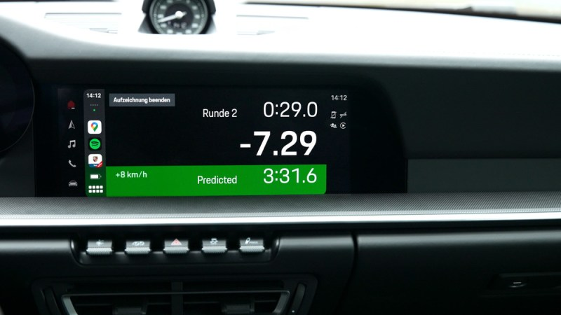 Porsche Track Precision App via Apple Car Play in the PCM 6.0