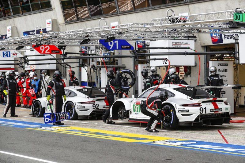Porsche 911 RSR, Porsche GT Team (#92), Kevin Estre (F), Neel Jani (CH), Michael Christensen (DK); Porsche GT Team (#91), Richard Lietz (A), Gianmaria Bruni (I), Frederic Makowiecki (F)
