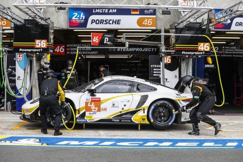Porsche 911 RSR, Team Project 1 (#46), Dennis Olsen (N), Anders Buchardt (N), Robert Foley (USA)