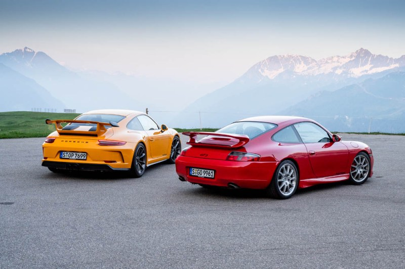 20 years of the Porsche 911 GT3, from the first (996.1) to the latest version (991.2)