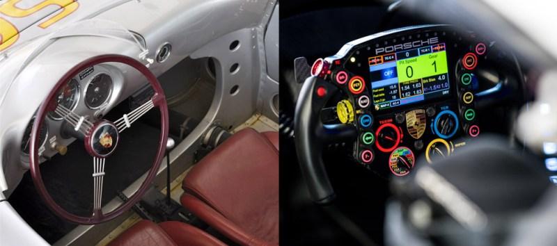 Porsche-steering-wheels-1954-2020-Porsche-550-Spyder-Porsche-911-RSR-19-l-r